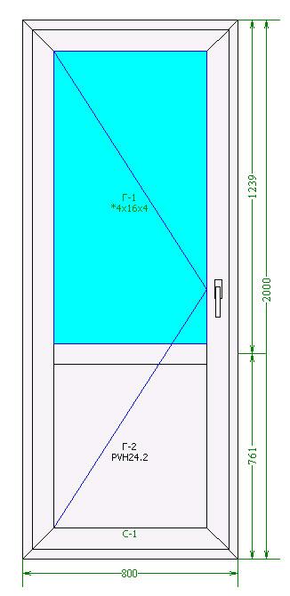 Балконная дверь Rehau Blitz 60 мм