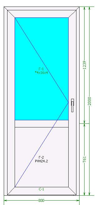 Межкомнатная дверь Brusbox 60 мм