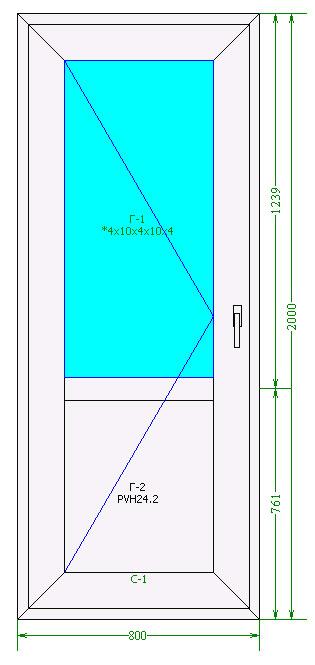 Входная теплая ПВХ дверь BrusBox 60 мм